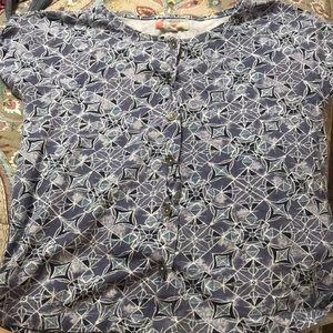 Button up tee shirt